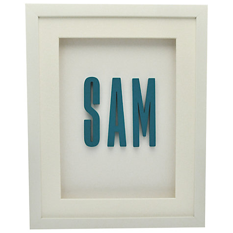 Buy The Letteroom Personalised Name Framed 3D Artwork, 34 x 29cm Online at johnlewis.com