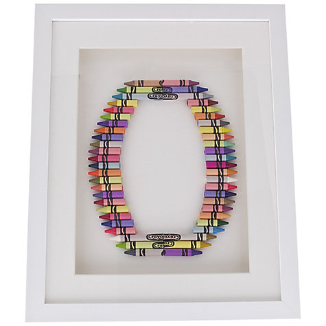 Buy The Letteroom Crayon O Framed 3D Artwork, 34 x 29cm Online at johnlewis.com