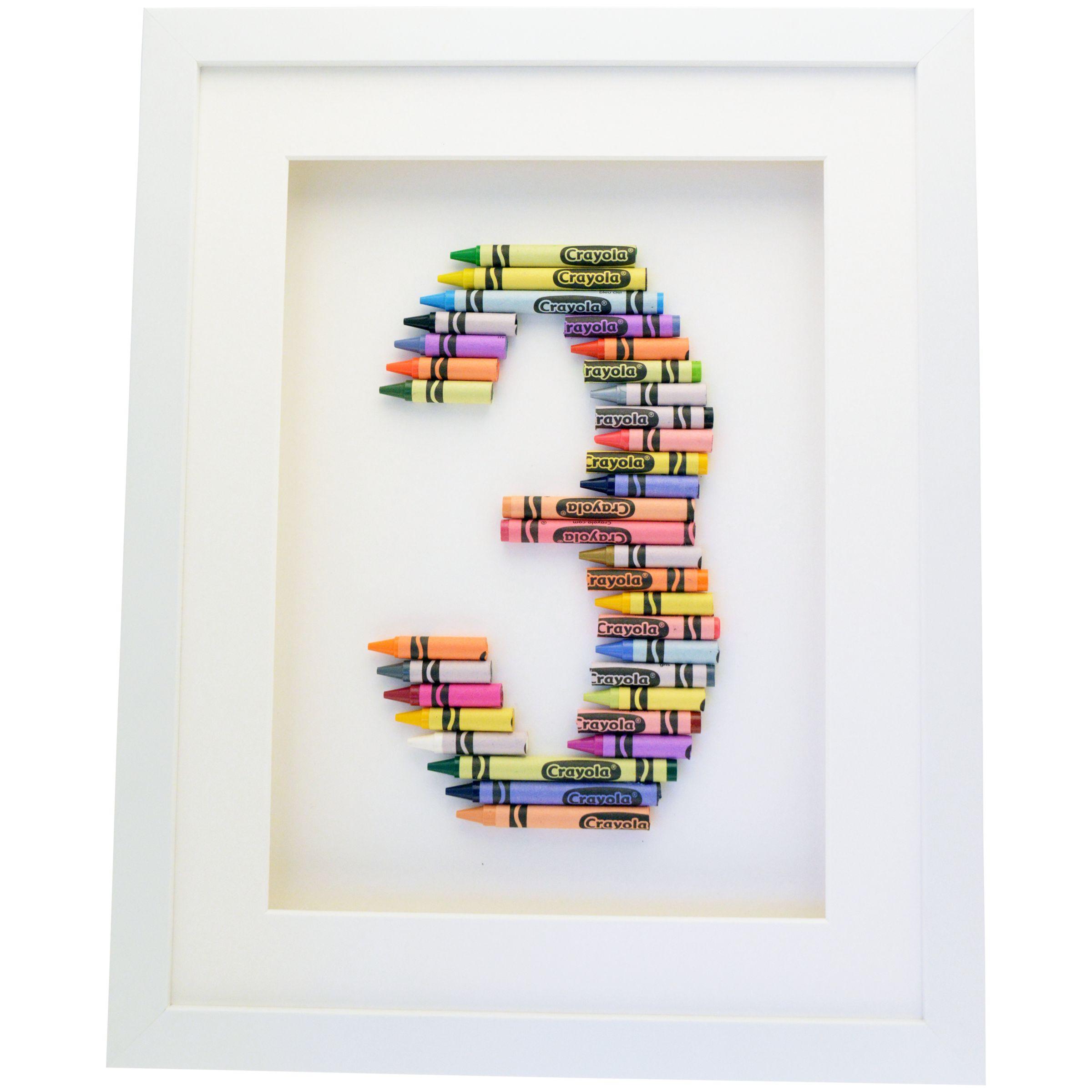 The Letteroom The Letteroom Crayon 3 Framed 3D Artwork, 34 x 29cm