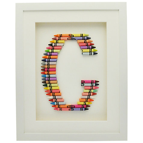 Buy The Letteroom Crayon G Framed 3D Artwork, 34 x 29cm Online at johnlewis.com