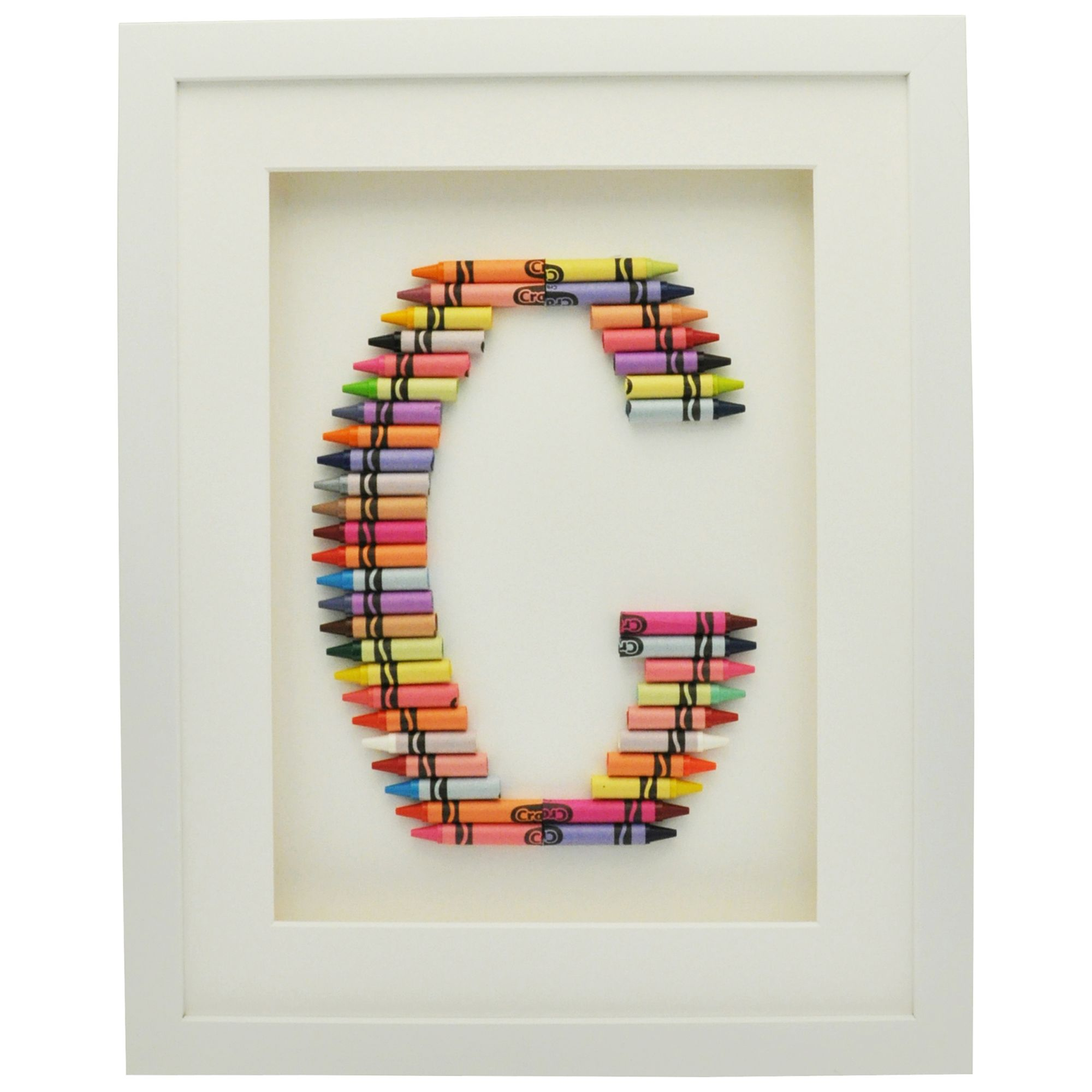 The Letteroom The Letteroom Crayon G Framed 3D Artwork, 34 x 29cm