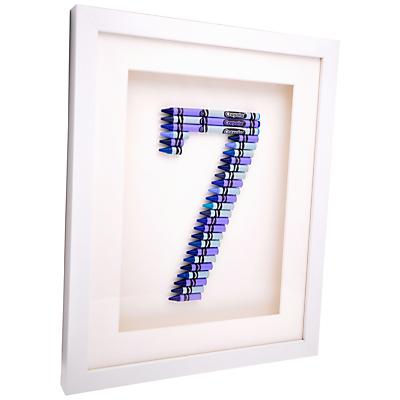 The Letteroom Crayon 7 Framed 3D Artwork, 34 x 29cm