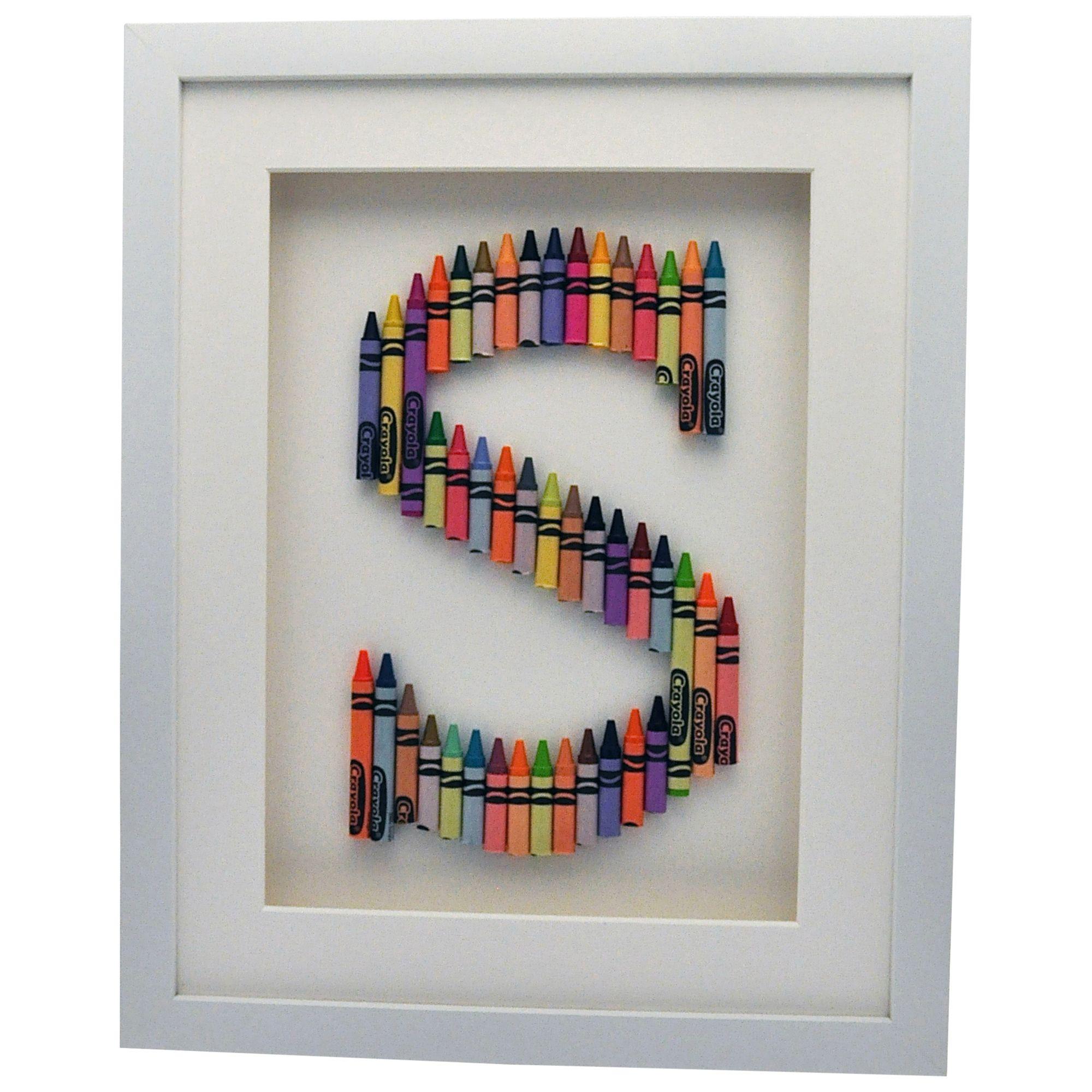 The Letteroom The Letteroom Crayon S Framed 3D Artwork, 34 x 29cm