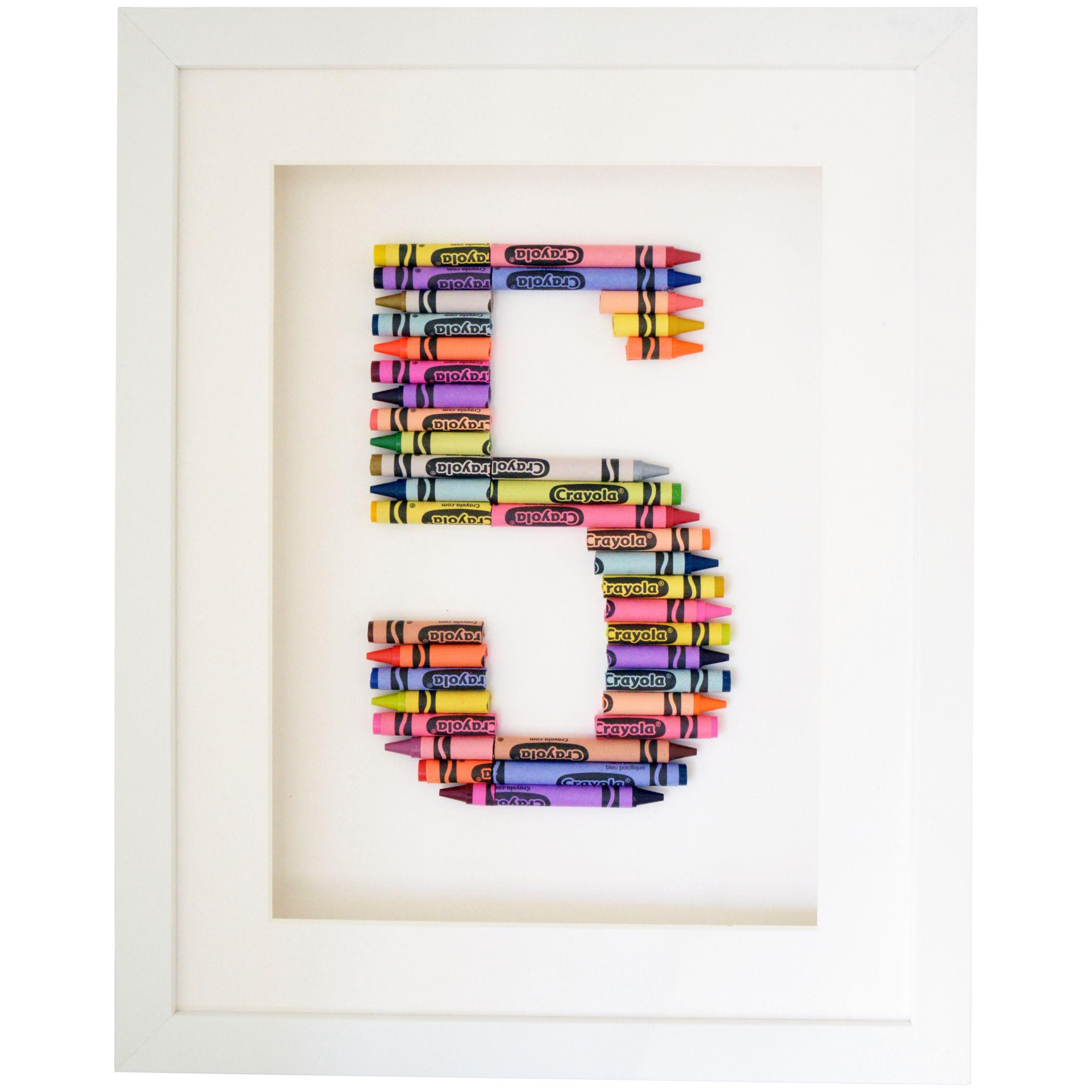 The Letteroom The Letteroom Crayon 5 Framed 3D Artwork, 34 x 29cm