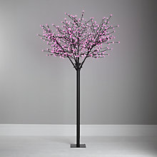 Buy John Lewis Outdoor Pre-lit Blossom Christmas Tree, 7ft Online at johnlewis.com