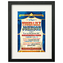 Buy Watermark Creative Personalised You're a Star Framed Print, Black Frame, 43 x 33cm Online at johnlewis.com
