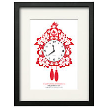 Buy Watermark Creative Personalised Cuckoo Clock Framed Print, Black Frame, 43 x 33cm Online at johnlewis.com