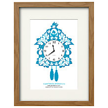 Buy Watermark Creative Personalised Cuckoo Clock Framed Print, Natural Frame, 43 x 33cm Online at johnlewis.com