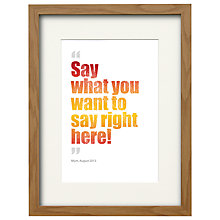 Buy Watermark Creative Personalised Magic Words Framed Print, Natural Frame, 43 x 33cm Online at johnlewis.com