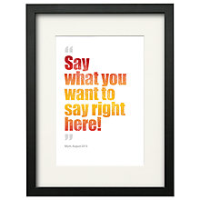 Buy Watermark Creative Personalised Magic Words Framed Print, Black Frame, 43 x 33cm Online at johnlewis.com