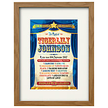 Buy Watermark Creative Personalised You're a Star Framed Print, Natural Frame, 43 x 33cm Online at johnlewis.com