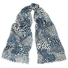 Buy Whistles Snake Print Crinkle Scarf, Grey/Multi Online at johnlewis.com