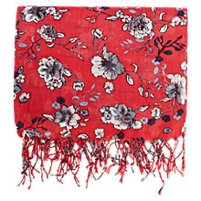 Buy Warehouse Wallpaper Floral Scarf, Raspberry Online at johnlewis.com
