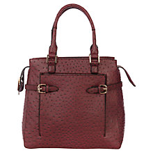 Buy Warehouse Belted Shopper Handbag, Red Online at johnlewis.com