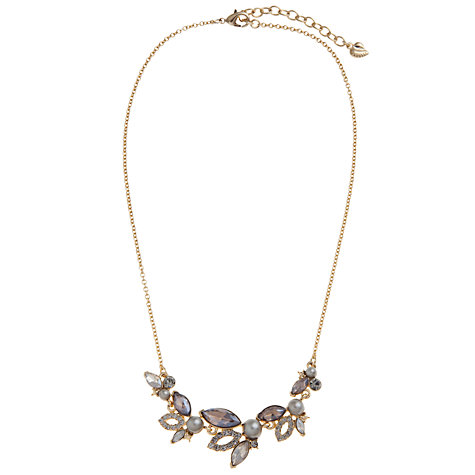Buy Carolee Glass Crystal And Faux Pearl Front Necklace, Gold Online at johnlewis.com