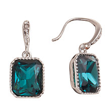Buy Carolee Rectangular Green Glass Crystal Drop Earrings Online at johnlewis.com