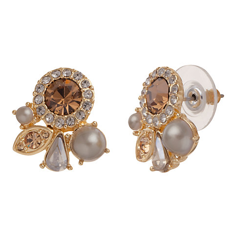 Buy Carolee Gold Cluster Faux Pearl Stud Earrings Online at johnlewis.com