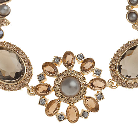 Buy Carolee Mixed Shape Glass Crystal And Faux Pearl Bracelet, Gold Online at johnlewis.com