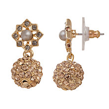 Buy Carolee Gold Pave Faux Pearl Double Drop Earrings Online at johnlewis.com