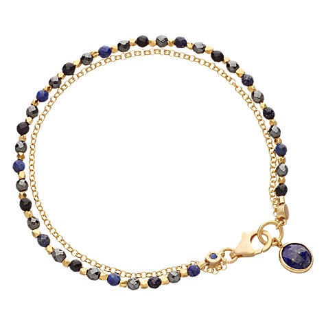 Buy Astley Clarke Biography Be Very Mysterious Goldstone 18ct Gold Vermeil Friendship Bracelet Online at johnlewis.com