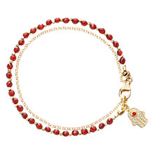 Buy Astley Clarke Biography Hamsa Agate 18ct Gold Vermeil Friendship Bracelet Online at johnlewis.com