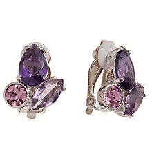Buy Carolee Glass Crystal Clip Earrings, Berry Online at johnlewis.com