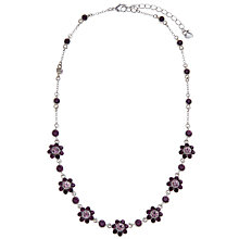 Buy Carolee Flower Glass Crystal Necklace, Berry Online at johnlewis.com