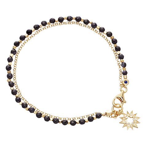 Buy Astley Clarke Biography Sun Goldstone 18ct Gold Vermeil Friendship Bracelet Online at johnlewis.com