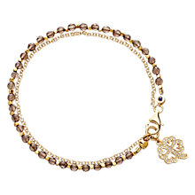 Buy Astley Clarke Biography Four Leaf Clover 18ct Gold Vermeil Friendship Bracelet Online at johnlewis.com