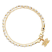 Buy Astley Clarke Biography Lotus 18ct Gold Vermeil Agate Friendship Bracelet Online at johnlewis.com
