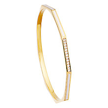 Buy Astley Clarke Colour Fractal 18ct Gold Vermeil Moonstone Bangle, Sea Shelll Online at johnlewis.com