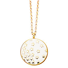 Buy Astley Clarke Colour Star Shower 18ct Gold Vermeil Large Pendant, Sea Shell Online at johnlewis.com