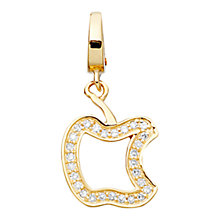 Buy Astley Clarke Charms 18ct Gold Vermeil An Apple A Day Charm Online at johnlewis.com