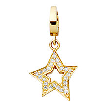 Buy Astley Clarke Charms 18ct Gold Vermeil Wandering Star Charm Online at johnlewis.com
