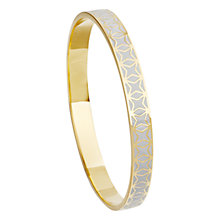 Buy Astley Clarke Colour Star Mosaic 18ct Gold Vermeil Bangle, Moonlight Online at johnlewis.com