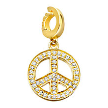 Buy Astley Clarke Charms 18ct Gold Vermeil Diamond Find Peace Within Charm Online at johnlewis.com
