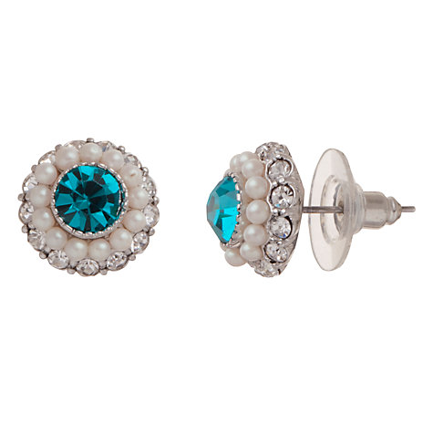Buy Carolee Peacock Crystal Faux Pearl Stud Earrings Online at johnlewis.com