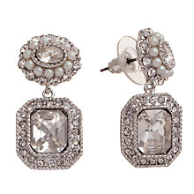 Buy Carolee Ornate Glass Crystal Faux Pearl Double Drop Earrings Online at johnlewis.com