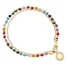 Buy Astley Clarke Biography Cosmos 18ct Gold Vermeil Friendship Bracelet, Rainbow Online at johnlewis.com