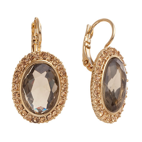 Buy Carolee Oval Gold Crystal Drop Earings Online at johnlewis.com