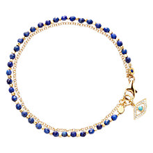 Buy Astley Clarke Biography Evil Eye Lapis Lazuli 18ct Gold Vermeil Friendship Bracelet Online at johnlewis.com