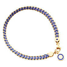 Buy Astley Clarke Biography Cosmos 18ct Gold Vermeil Woven Friendship Bracelet, Mood Indigo Online at johnlewis.com