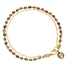 Buy Astley Clarke Biography Be Very Lucky 18ct Gold Vermeil Friendship Bracelet Online at johnlewis.com