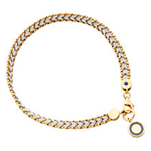 Buy Astley Clarke Biography Cosmos 18ct Gold Vermeil Woven Friendship Bracelet Online at johnlewis.com