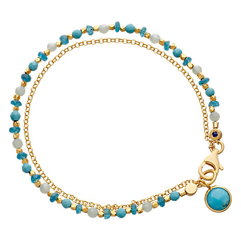 Buy Astley Clarke Biography Be Very Cool 18ct Gold Vermeil Friendship Bracelet Online at johnlewis.com