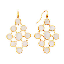 Buy Astley Clarke Colour Lydian 18ct Gold Vermeil Chandelier Earrings, Moonstone Online at johnlewis.com