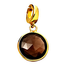 Buy Astley Clarke Charms 18ct Gold Vermeil Smoky Quartz This Moment Charm Online at johnlewis.com