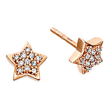 Buy Astley Clarke Muse A Little Light 14ct Rose Gold Diamond Stud Earrings Online at johnlewis.com