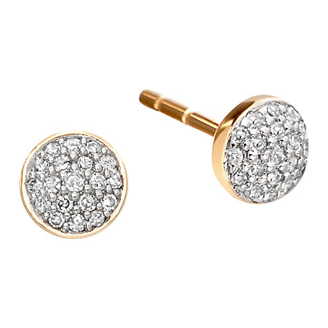 Buy Astley Clarke Muse A Little Muse 14ct Gold Diamond Stud Earrings Online at johnlewis.com