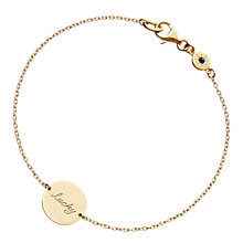Buy Astley Clarke Silhouettes Lucky Disc Friendship Bracelet, 18ct Gold Online at johnlewis.com
